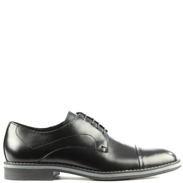Black Leather Lace Up Dress Shoe