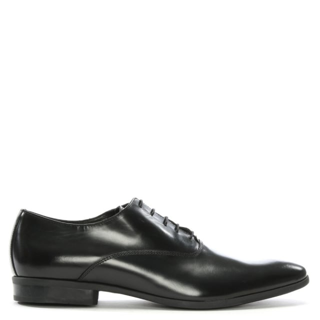 Black Leather Lace Up Dress Shoes