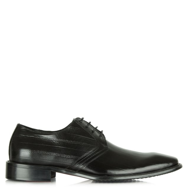 Black Leather Lulworth Lace Up