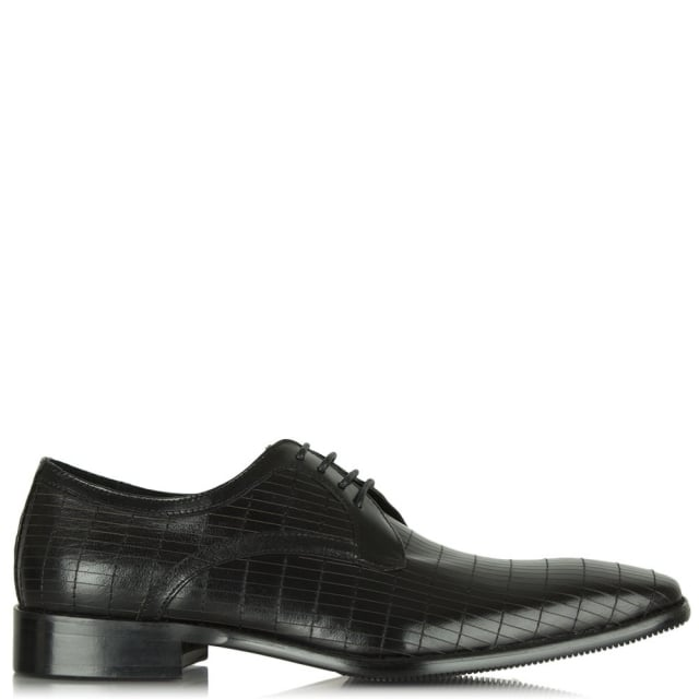 Black Leather Lytchett Lace Up