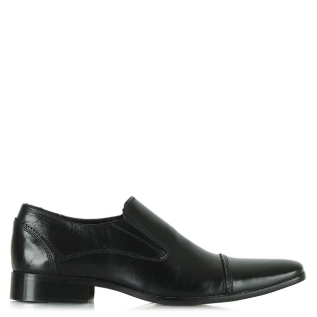 Black Leather Slip On Loafer