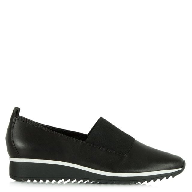 Black Leather Victoria Sporty Loafer