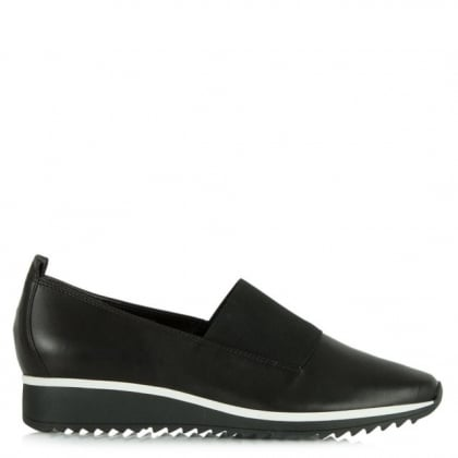 Hogl Black Leather Victoria Sporty Loafer