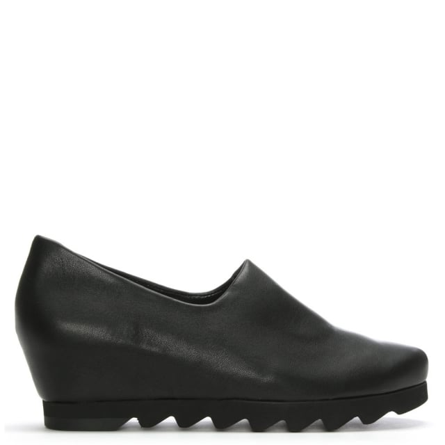 Hogl Black Leather Wedge Day Shoes