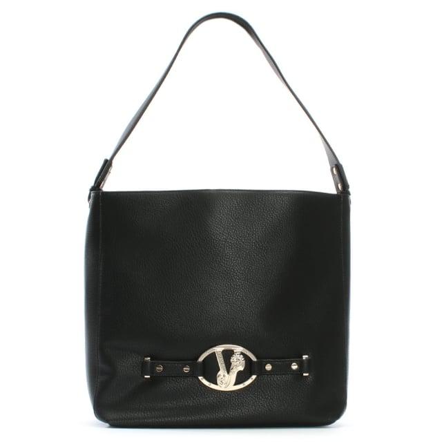 Versace Jeans Black Lion Head Hobo Bag