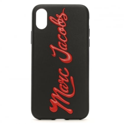 Black Logo Embossed iPhone X Case