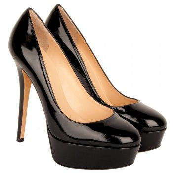 Black Morzilla Women's Platform Court Shoe