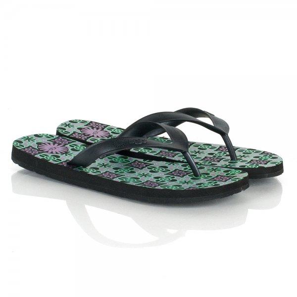 c7d49989ef7 Black Mosaic Flare Women's Flip Flop