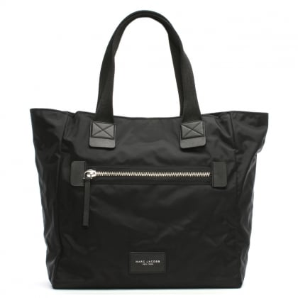 Black Nylon Biker Tote Bag
