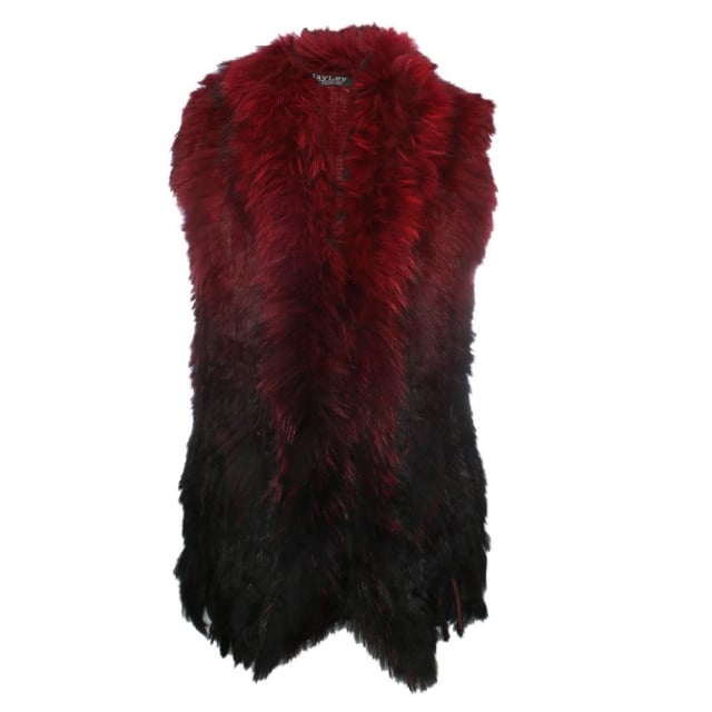 JayLey Black Ombre Fur Gilet