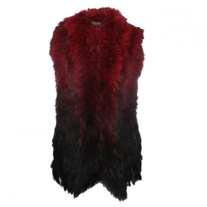 Black Ombre Fur Gilet