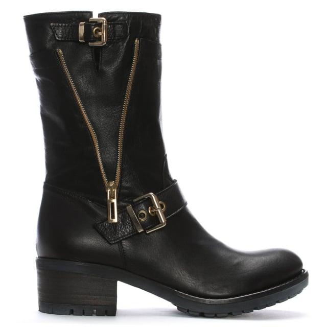 98e280344272 Daniel Black Passeri Womens Flat Biker Boot