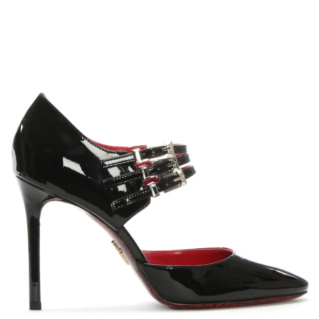 Black Patent Leather Mary Jane Heels