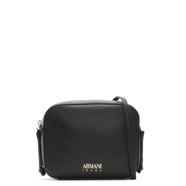 4d97957cc63f Armani Jeans Black Pebbled Cross-Body Bag