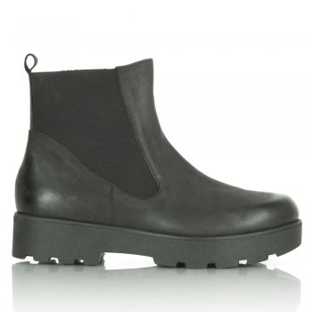 Black Reeses Chunky Sole Ankle Boot