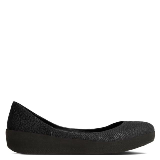 black-reptile-leather-superballerina-pump