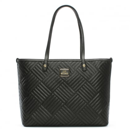 Black Square Quilted Large Shopper