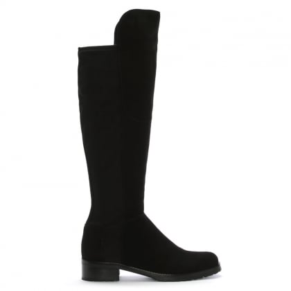 Black Suede 41 24160 Women's Flat Knee Boot