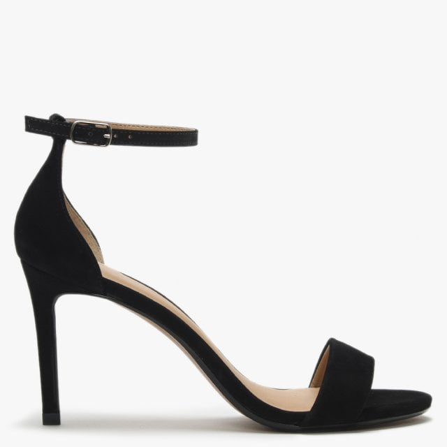 088c4909472 Maria Lyn Black Suede Ankle Strap Sandals