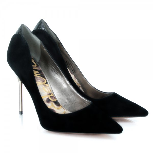 54489b04c795 Sam Edemlan Black Suede DANIELLE women s court shoe