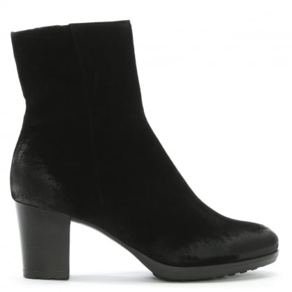 Black Suede Distressed Ankle Boots