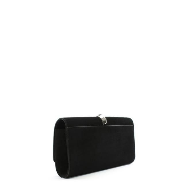 77eb874cb Cesare Paciotti Black Suede Metal Trim Clutch Bag