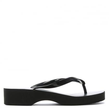 d3bbf760ff2f Black Wedge Toe Post Flip Flops. Sale. Tory Burch ...