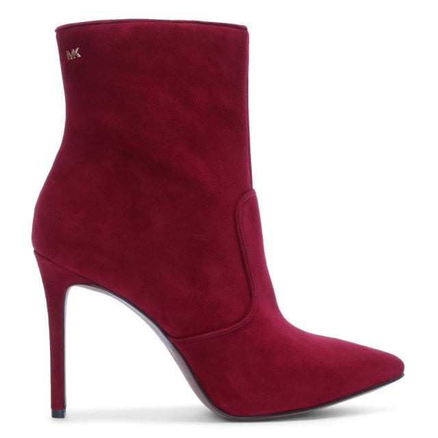 9f1fa78a0656 Michael Kors Blaine Maroon Suede Ankle Boots