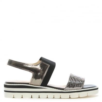 Blantyre Pewter Leather Sandals