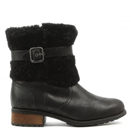 Blayre Black Suede Women's Biker Boot