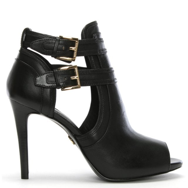 7c9c52bf9904 Michael Kors Blaze Black Leather Shoe Boots
