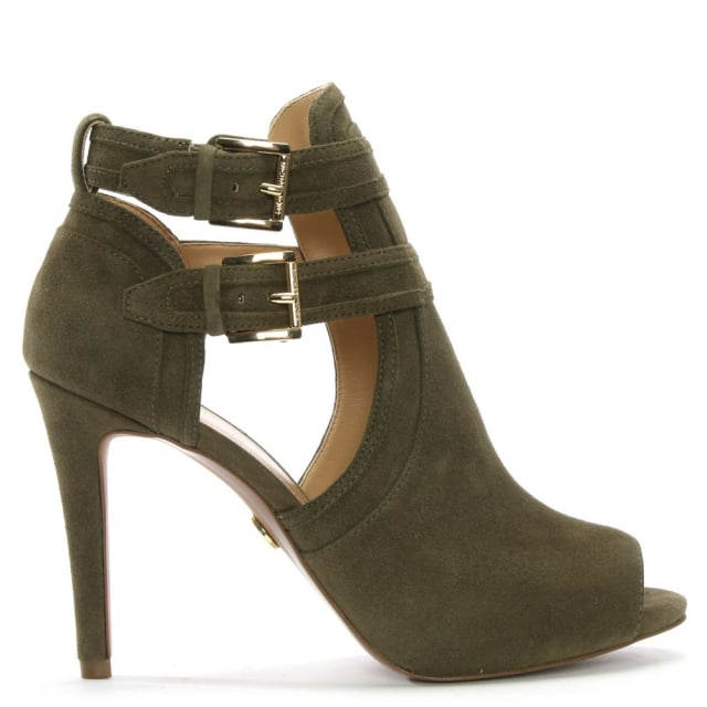 Michael Kors Blaze Olive Suede Shoe Boots