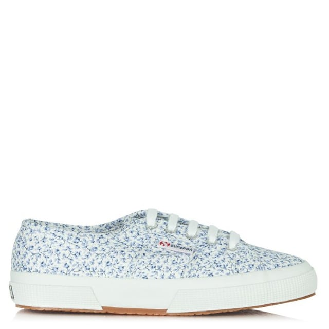release date: official shop timeless design Superga Blue Liberty Print Michael Lace Up Trainer