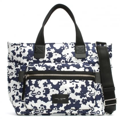 Blue Printed Polyester Baby Bag