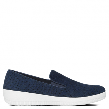 FitFlop Blue Suede Perforated Superskate Pump