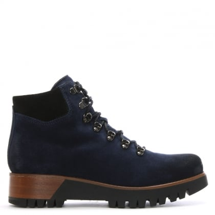 Blue Suede Walking Boots