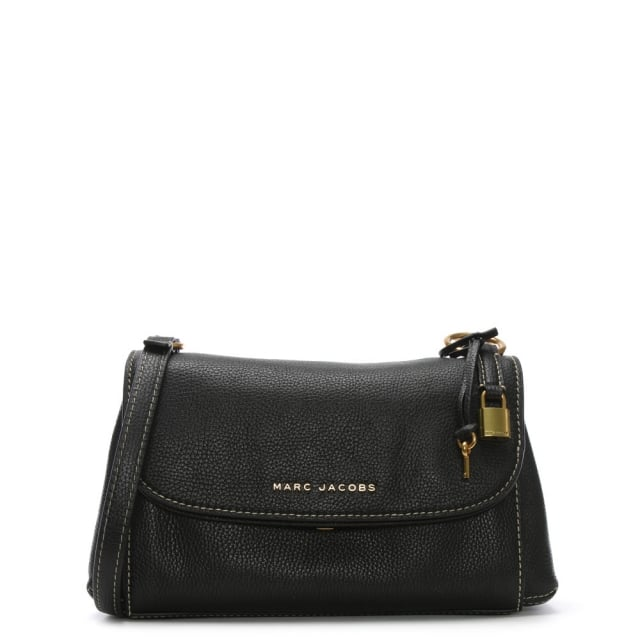 a663d8852f75e Marc Jacobs Boho Grind Black Pebbled Leather Day Bag