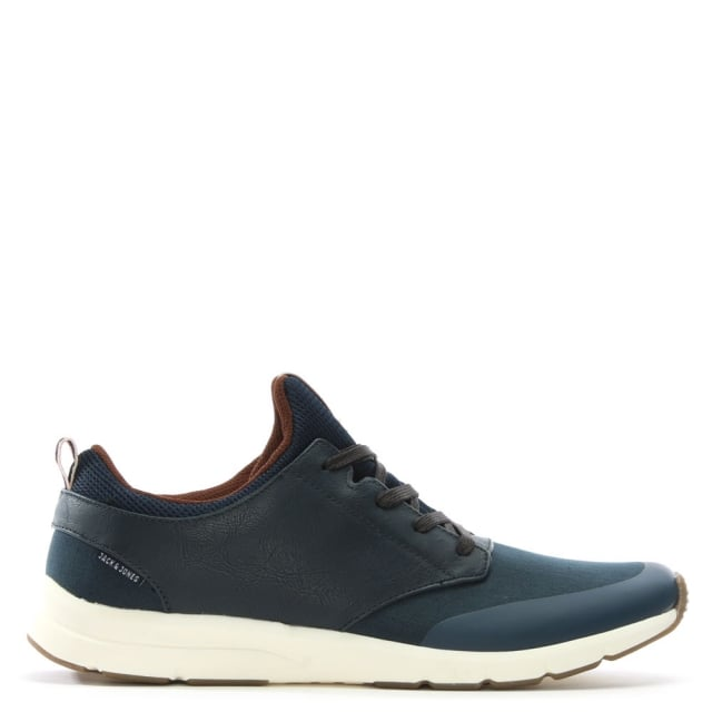 Jack & Jones Bolton Navy Synthetic Lace Up Trainers