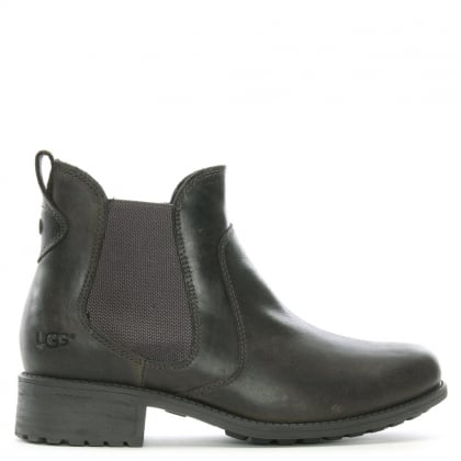 Bonham Grey Leather Chelsea Boots