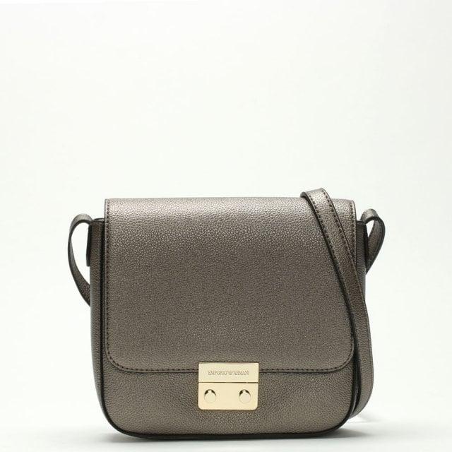 b3fd7ff8ddd8b Emporio Armani Borsa Silver Textured Cross-Body Bag