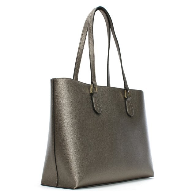 Emporio Armani Borsa Textured Silver Shopper Bag 24622fac572db