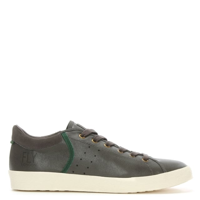 Bose Grey Leather & Suede Lace Up Trainer