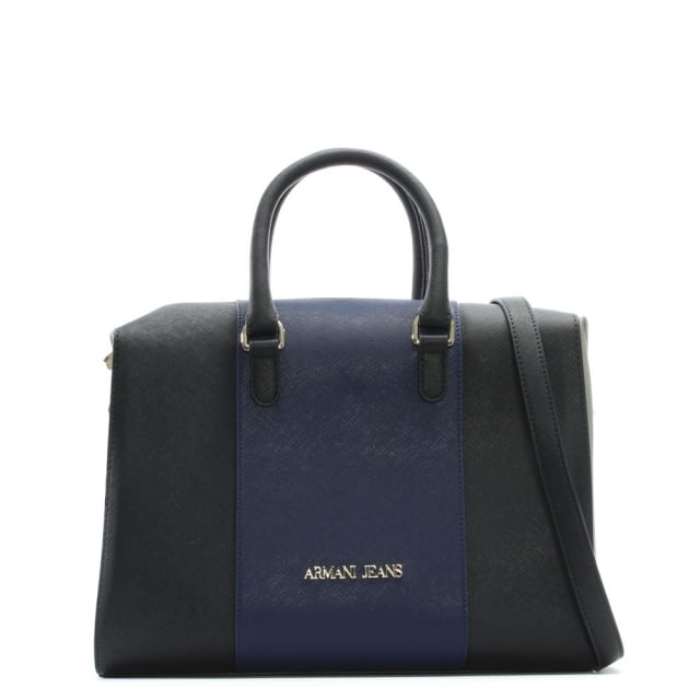 Boston Navy Multicoloured Eco Leather Grab Bag