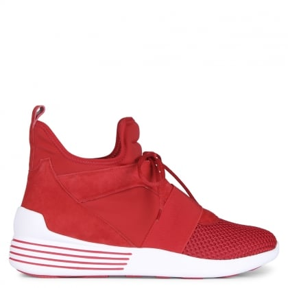 Bray Red Scuba High Top Trainers