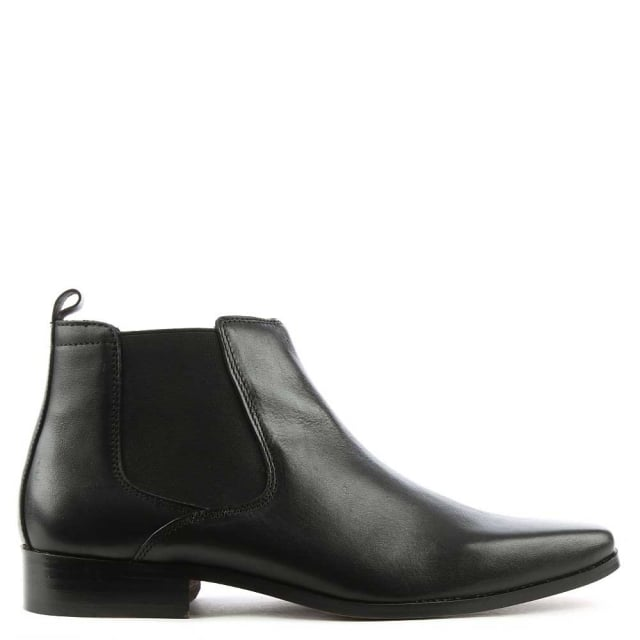 Bridcutt Black Leather Chelsea Boot