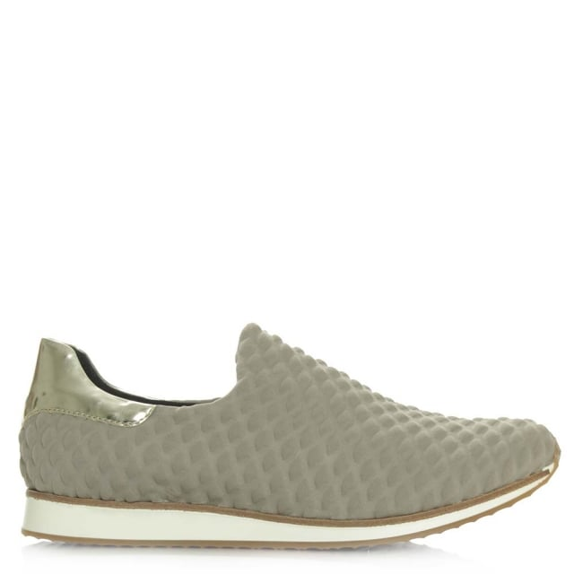 Bridgewater Taupe Slip On Fabric Sporty Shoe