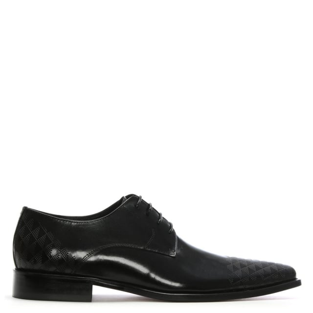 Bridport Black Leather Perforated Lace Up Shoe