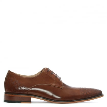 Bridport Tan Leather Perforated Lace Up Shoe