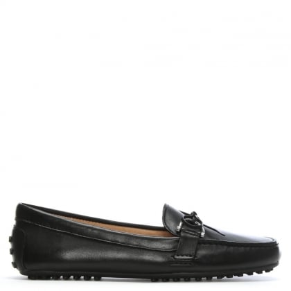 Briley Black Leather Driving Loafers