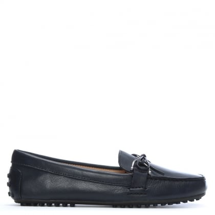 Briley Navy Leather Driving Loafers